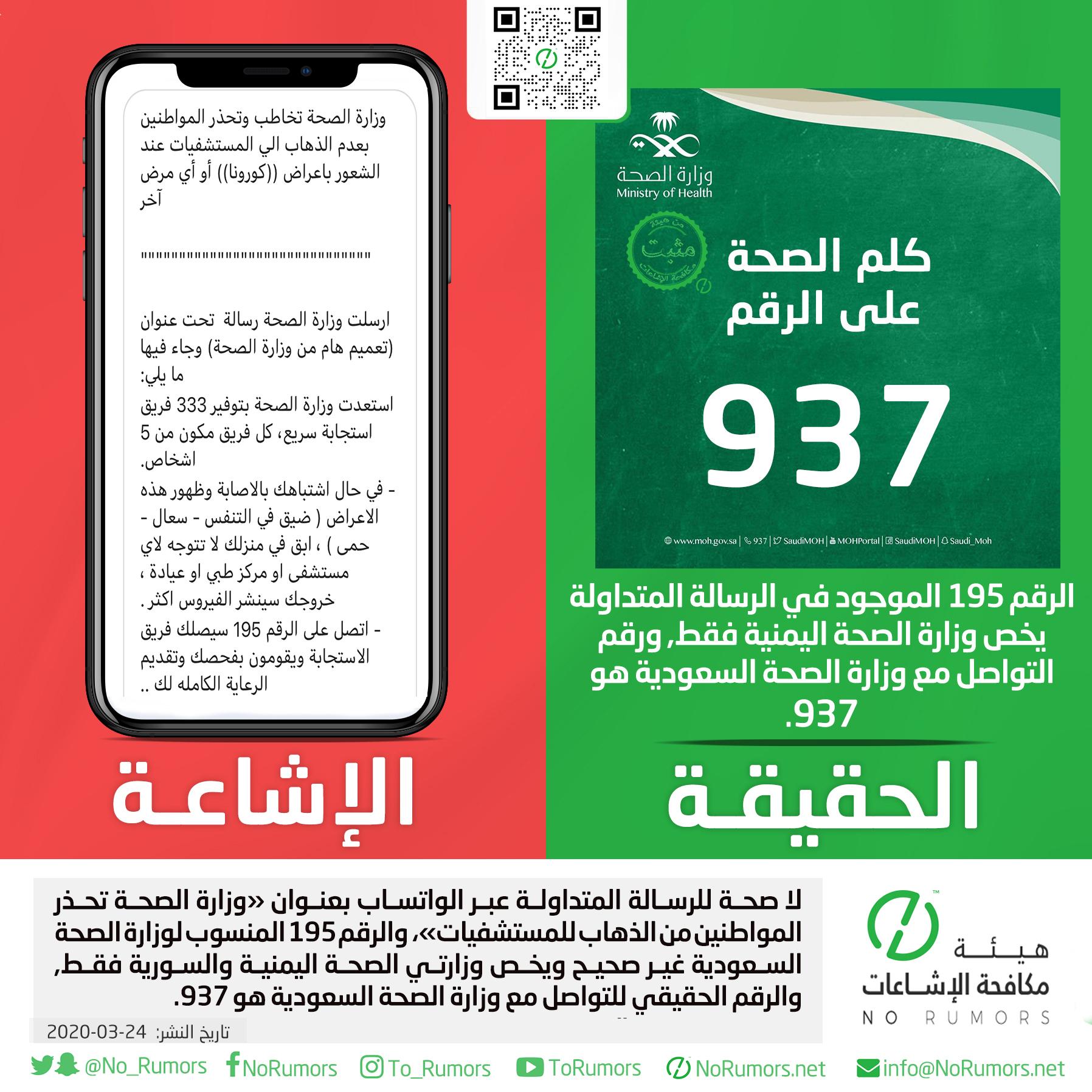 حقيقة الرسالة المتداولة عبر الواتساب بعنوان «وزارة الصحة تحذر المواطنين من الذهاب للمستشفيات»
