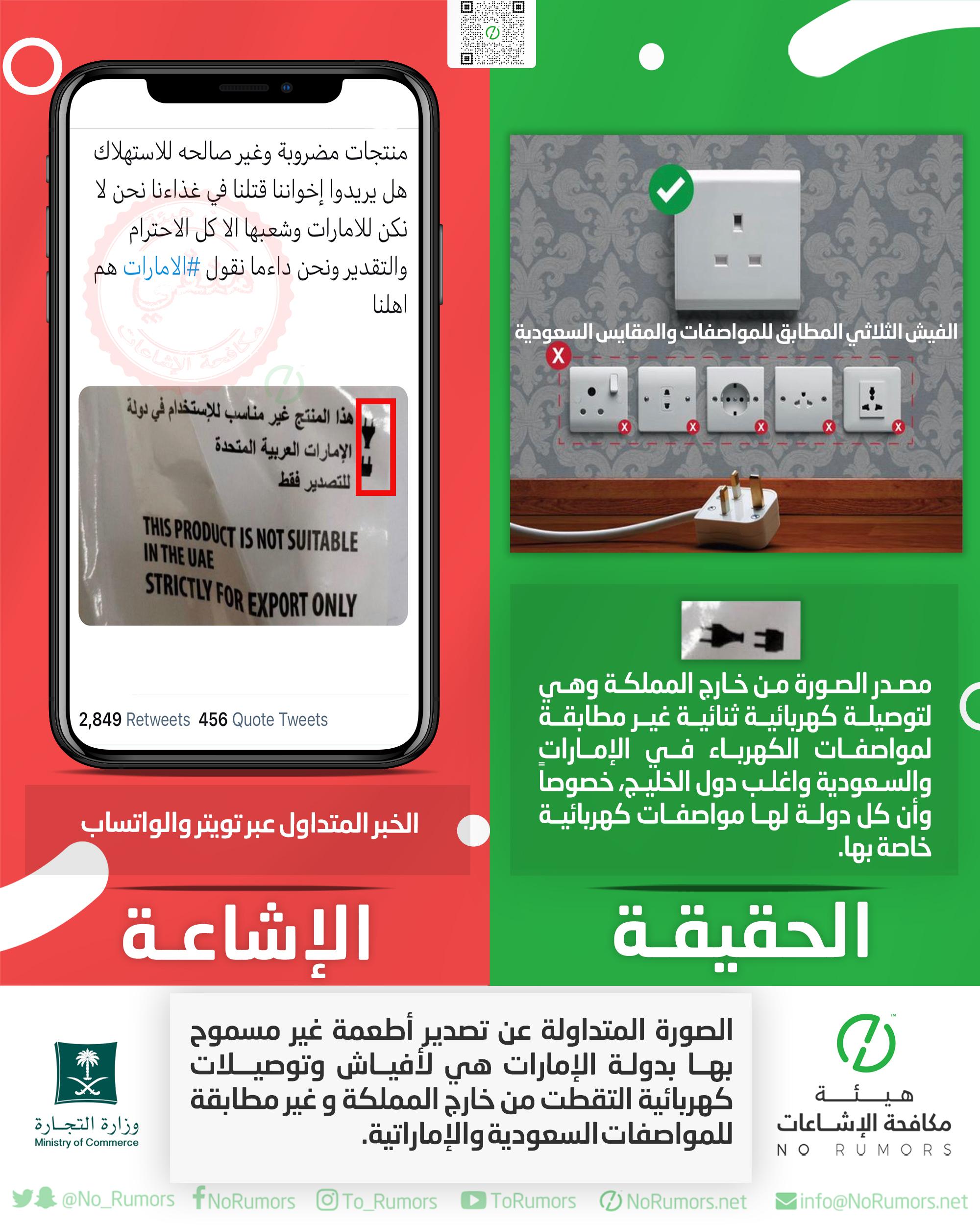 حقيقة الصورة المتداولة عن تصدير أطعمة غير مسموح بها بدولة الإمارات